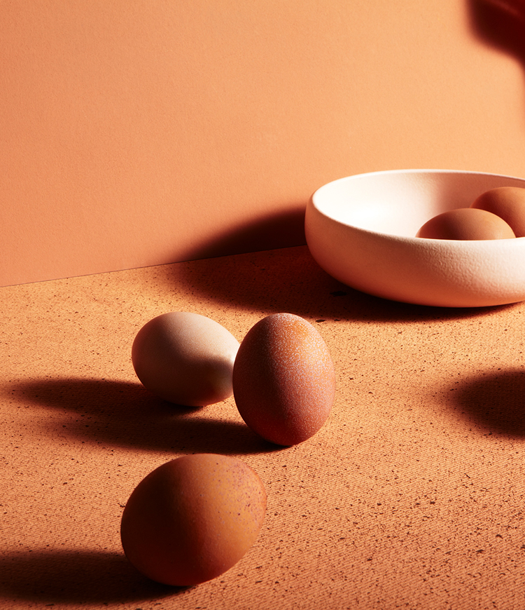 katie hammond pink exploration of vanitas eggs still life