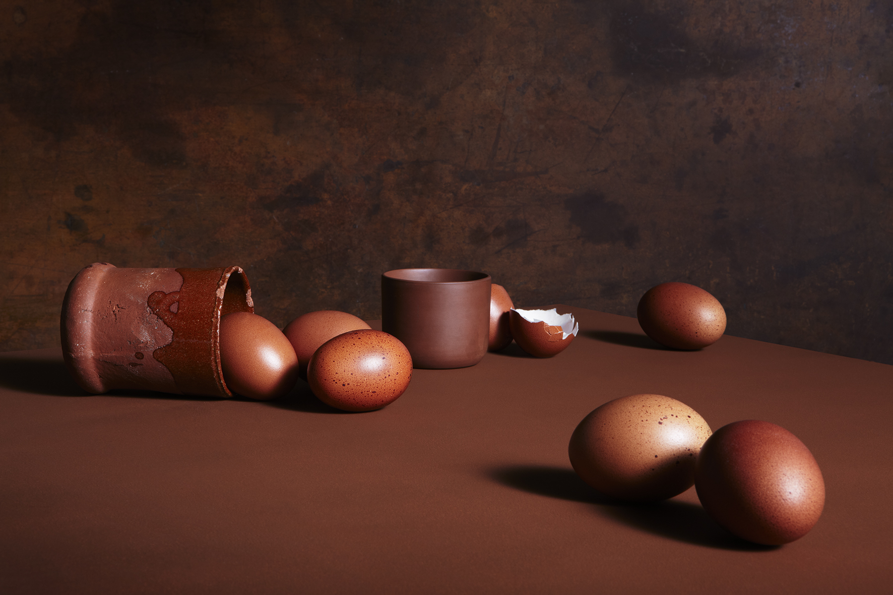 katie hammond brown exploration of vanitas eggs still life
