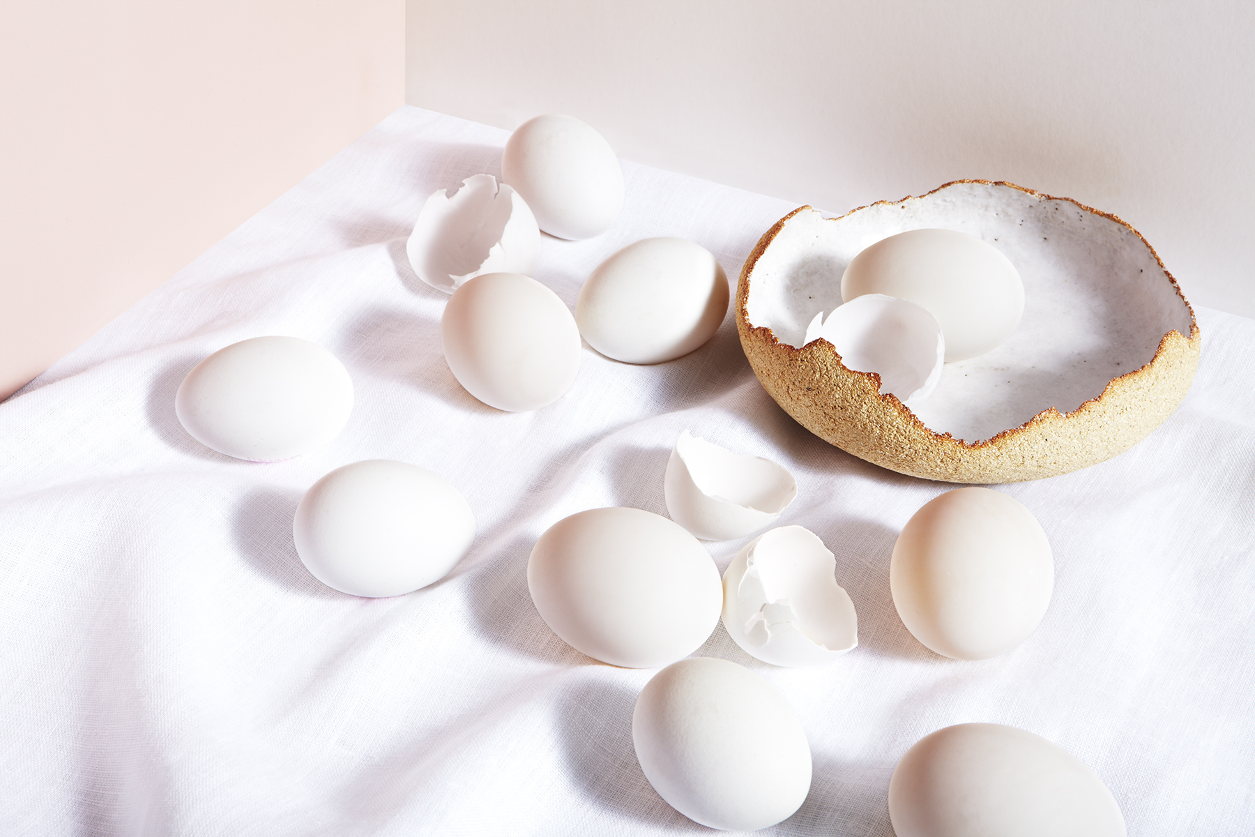 katie hammond white exploration of vanitas eggs still life